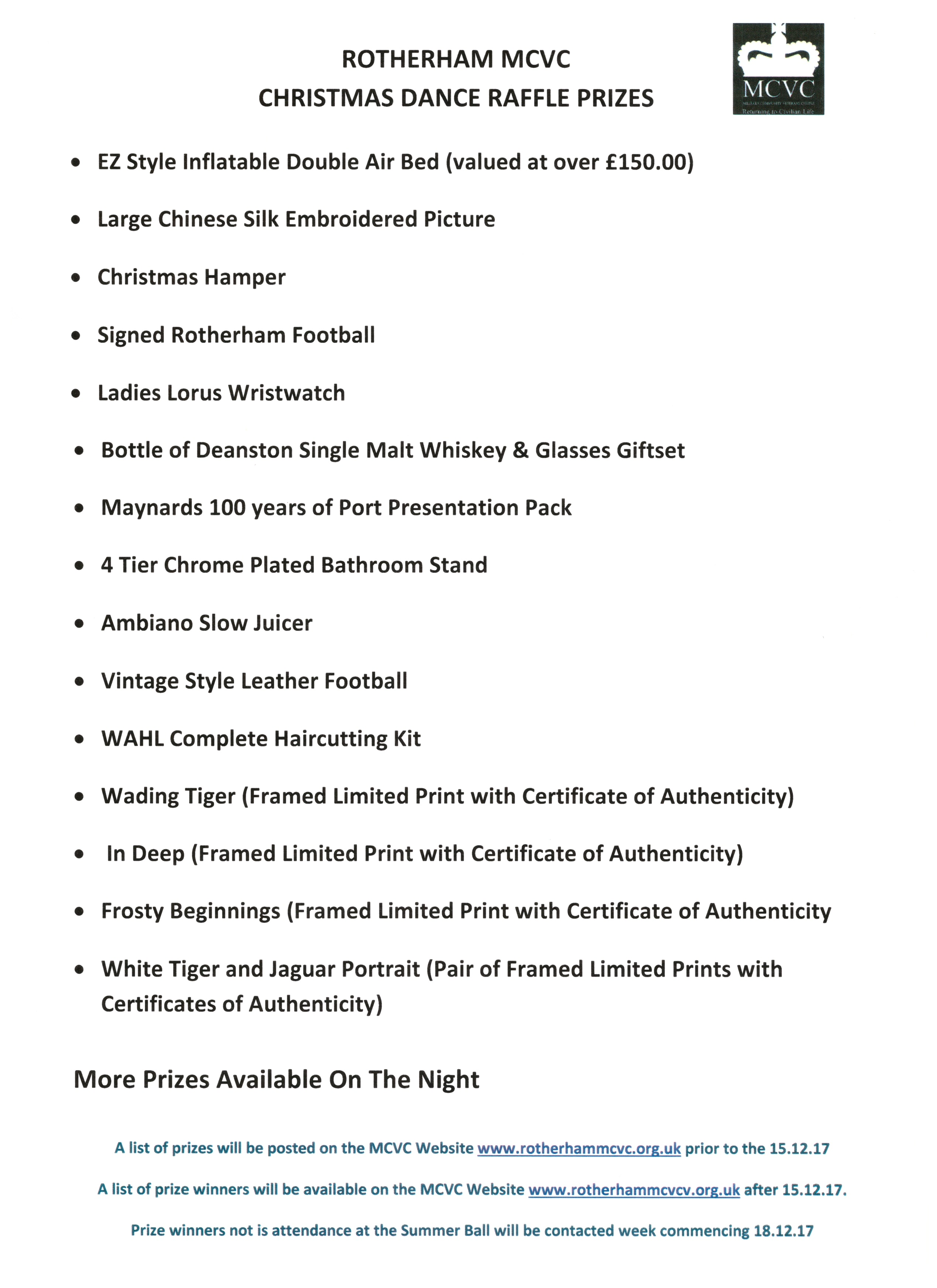 raffle certificate